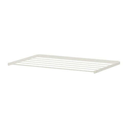 ALGOT Drying rack IKEA Just click in on ALGOT brackets – no tools needed.  Can also be used in bathrooms and other damp indoor areas.