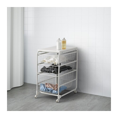 Algot Frame Wire Baskets Top Shelf Caster
