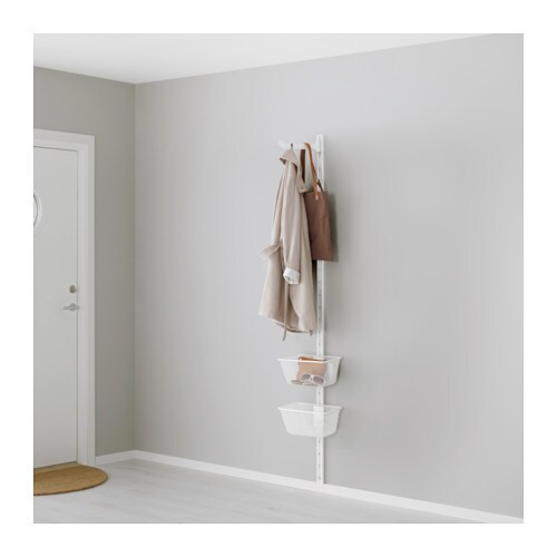 ALGOT Wall upright, basket and hook IKEA