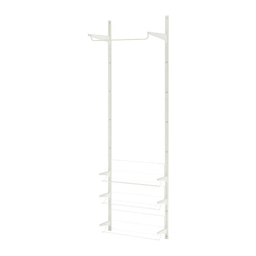 ALGOT Wall upright/rod/shoe organizer IKEA You can build ALGOT in many ways to suit different things and spaces.