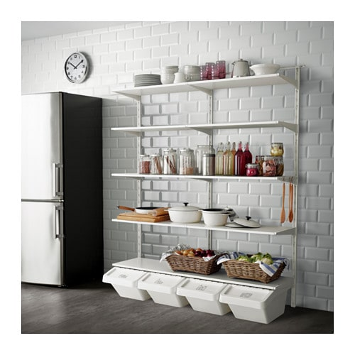 Etagere Supplementaire Ikea ~   Open clothes & shoe storage system  ALGOT system Wall mounted storage