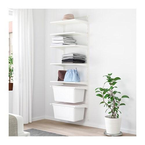 algot wall upright shelves box ikea. Black Bedroom Furniture Sets. Home Design Ideas