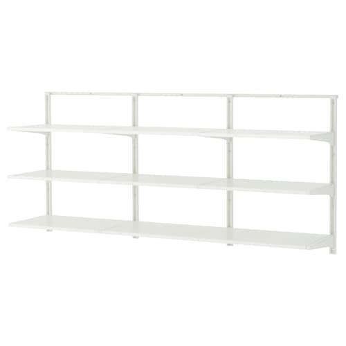 """ALGOT wall upright/shelves white 74 3/4 """" 16 1/8 """" 34 1/4 """""""