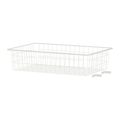 ALGOT Wire basket IKEA Fits in both the frames and wall-mounted storage solutions in the ALGOT series, so it is easy to switch if your needs change.