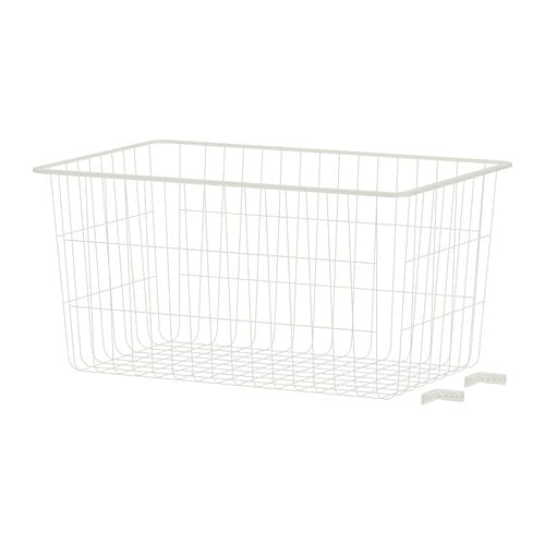 algot wire basket 15x23 58x5 12 ikea algot white wall mounted storage solution