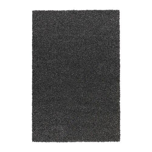 ALHEDE Rug, high pile, black 4 ' 4