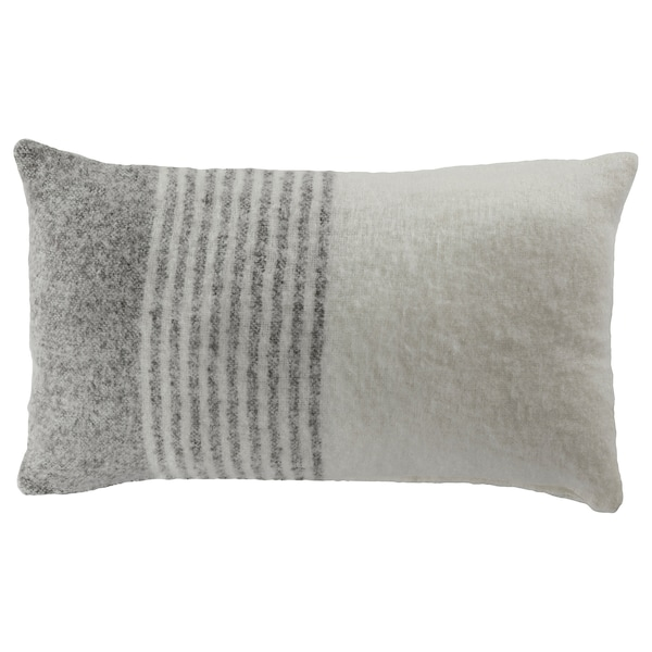 """ALKRONMAL Cushion cover, gray/white, 16x26 """""""