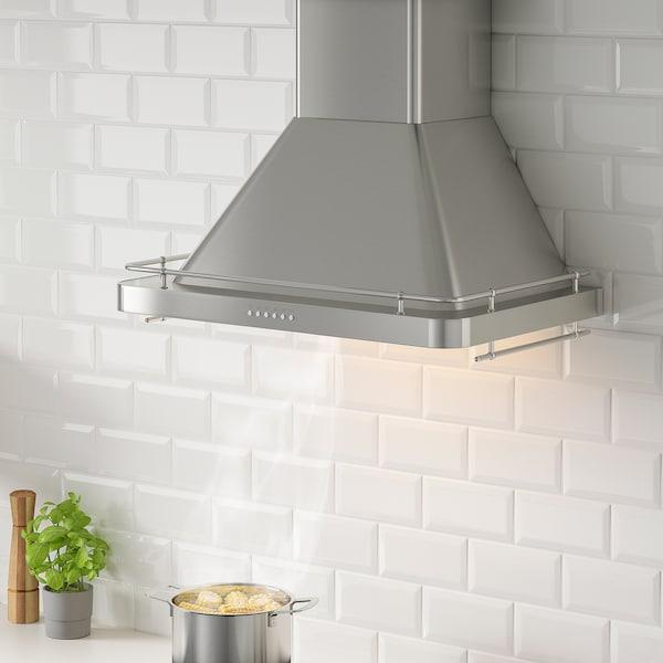 ALLMÄNBILDAD Wall mounted range hood, Stainless steel