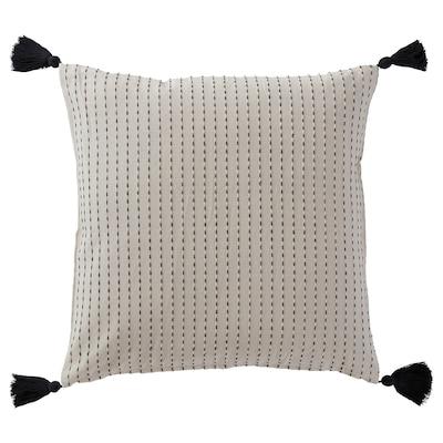 """ALPSTORMHATT Cushion cover, white/black, 20x20 """""""