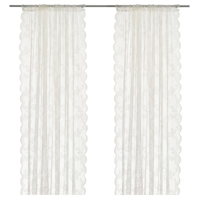 ALVINE SPETS Lace curtains, 1 pair, off-white, 57x98 ""