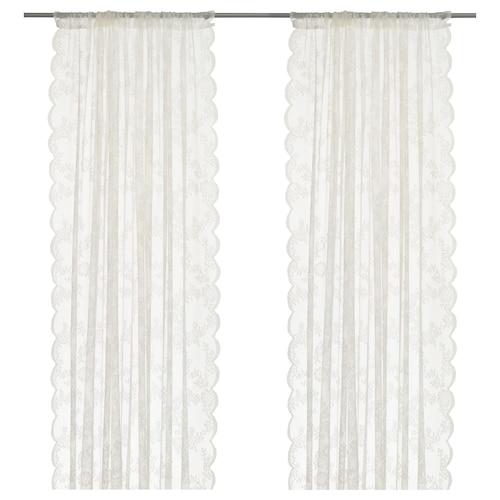 IKEA ALVINE SPETS Lace curtains, 1 pair