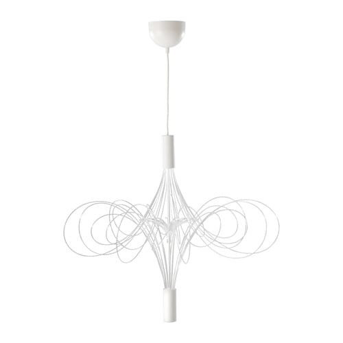 ÄLVSBYN LED chandelier, white white -