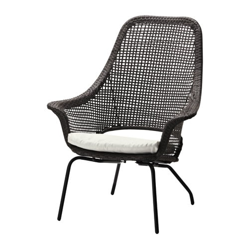 AMMERÖ Armchair with pad IKEA Hand woven plastic rattan offers the same look as natural rattan but is more durable for outdoor use.