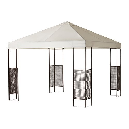 AMMERÖ Gazebo IKEA The fabric is water-resistant and provides excellent UV protection (min.  97. 5% of UV is blocked). Removable and washable fabric.