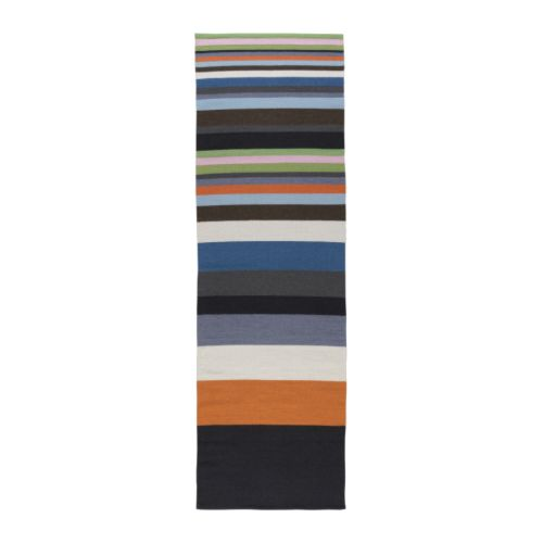 "ANDRUP Rug, flatwoven, multicolor Length: 8 ' 2 "" Width: 2 ' 7 ""  Length: 250 cm Width: 80 cm"