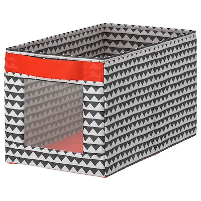 """ANGELÄGEN Box, black/white, 9 ¾x17 ¼x9 ¾ """""""