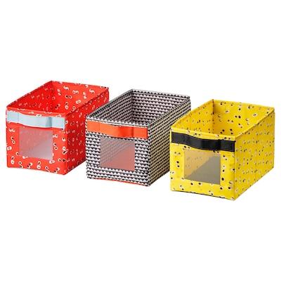 "ANGELÄGEN Box, multicolor, 7x10 ¾x6 ¾ "" 3 pack"