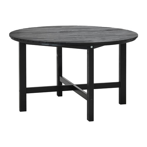 Ngs table outdoor black brown ikea for Salle a manger table pliante