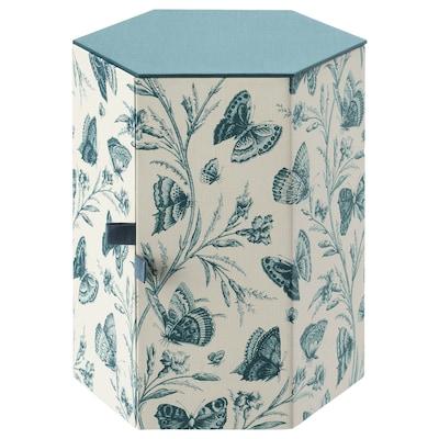 "ANILINARE decorative box green/butterfly paper 6 ¼ "" 5 ½ """