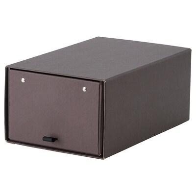 """ANILINARE Shoe box, dark brown, 13x9x6 """""""