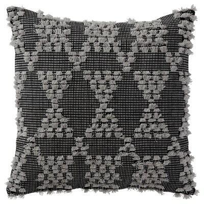 """ANNAMETTE Cushion cover, gray/black, 20x20 """""""