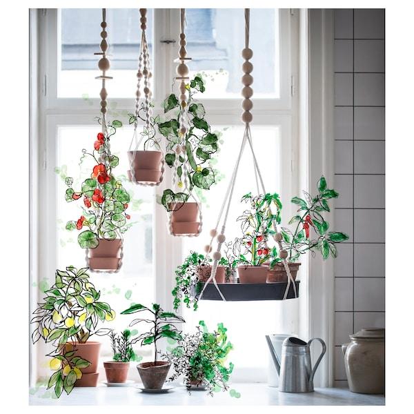 ANVÄNDBAR Hanging plant holder, hanging/natural