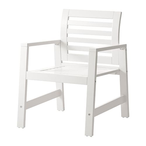 ÄPPLARÖ Chair with armrests outdoor white IKEA
