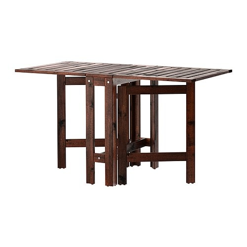 Ikea Folding Table With Chairs ~ ÄPPLARÖ Gateleg table, outdoor IKEA Two folding drop leaves allow