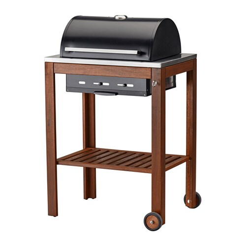 ÄPPLARÖ / KLASEN Charcoal grill, brown stained brown stained