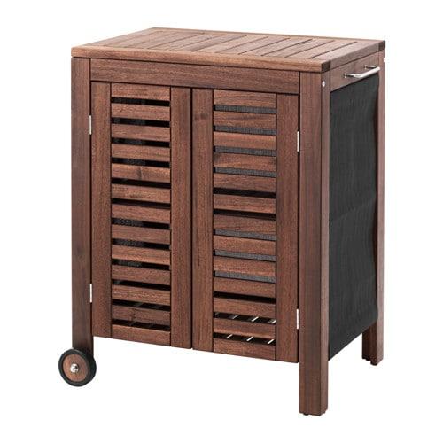 Pplar klasen storage cabinet outdoor brown stained ikea - Ikea outdoor kitchen cabinets ...