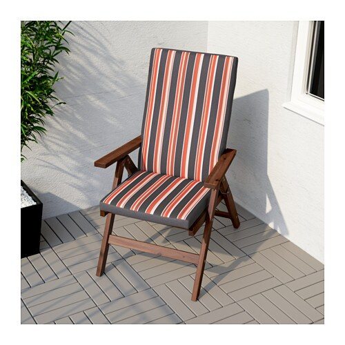 sc 1 st  Ikea & ÄPPLARÖ Reclining chair outdoor - foldable brown stained - IKEA islam-shia.org