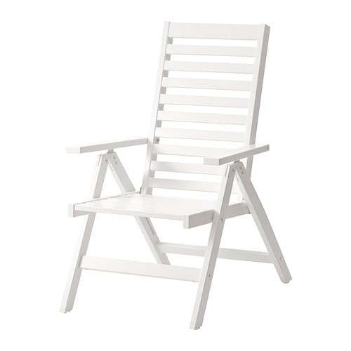 ÄPPLARÖ Reclining chair outdoor folding white IKEA