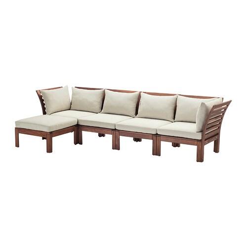 ÄpplarÖ 4 Seat Sofa With Footstool Outdoor