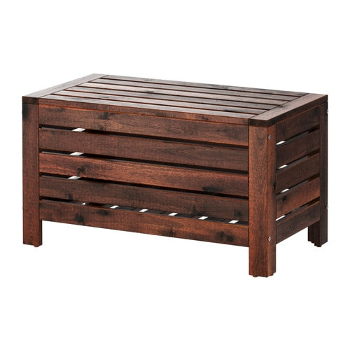 Pplar storage bench outdoor ikea for Banco de jardin ikea