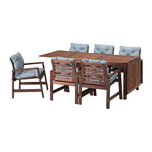 APPLARO Table 6 Armchairs Outdoor