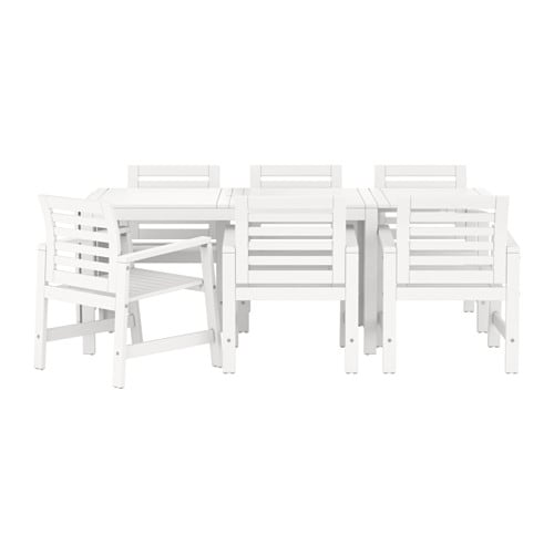 pplar table 6 armchairs outdoor white ikea. Black Bedroom Furniture Sets. Home Design Ideas