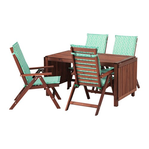 pplar table 4 reclining chairs outdoor ikea