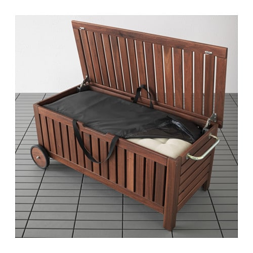 pplar toster bench with storage bag outdoor ikea. Black Bedroom Furniture Sets. Home Design Ideas