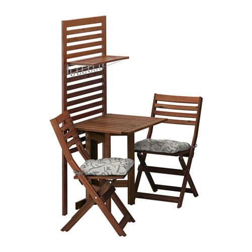 Pplar wall panel gateleg table 2chairs pplar brown stained steg - Ikea tables et chaises ...