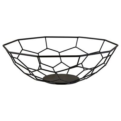 "ARBETE Decorative bowl, black, 12 ½ """