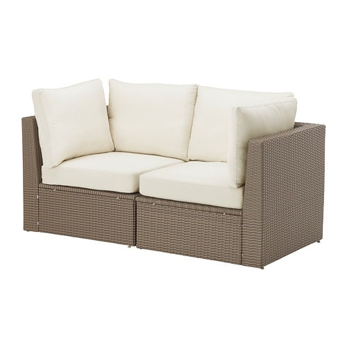 Arholma loveseat outdoor ikea for Cojines exterior ikea