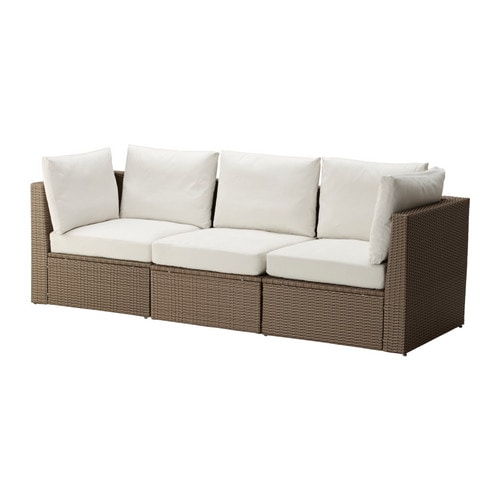 ARHOLMA Sofa, outdoor, brown, beige brown/beige