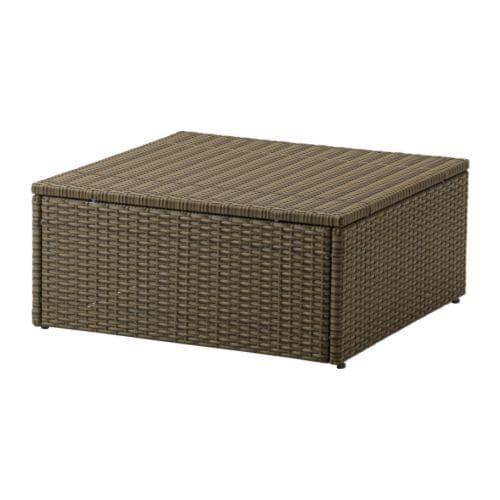 ARHOLMA Table/stool, outdoor, brown
