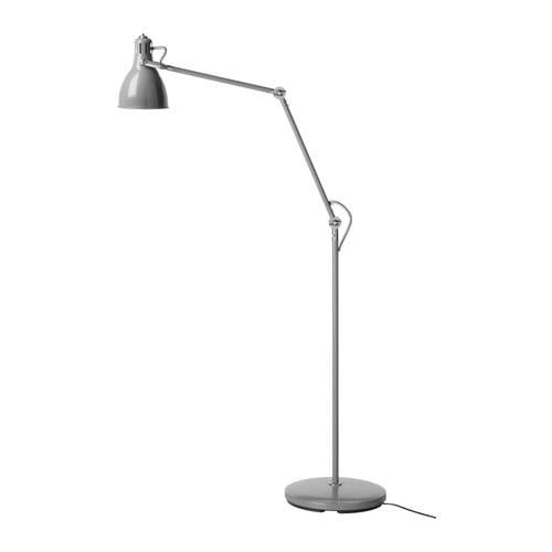 ARÖD Floor/reading lamp with LED bulb, gray
