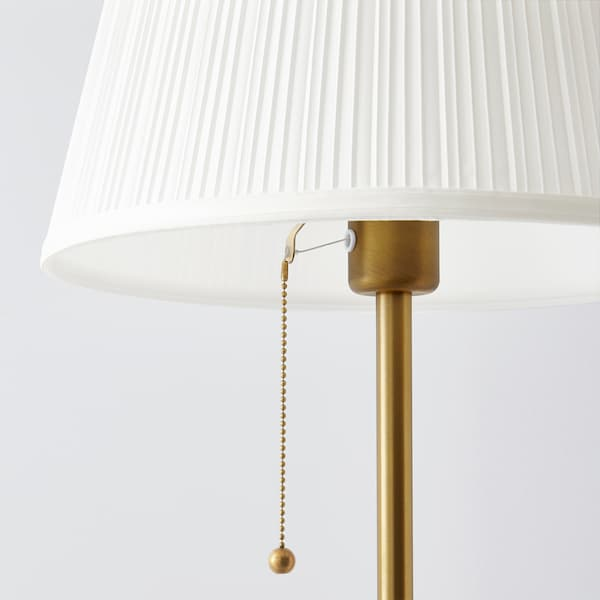 Arstid Floor Lamp With Led Bulb Brass White Ikea