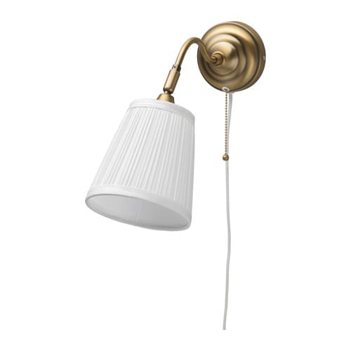 ÅRSTID Wall lamp, brass, white brass/white -