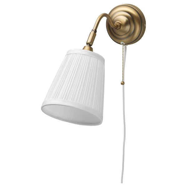 """ÅRSTID wall lamp with LED bulb brass/white 40 W 15 """" 6 """" 8 ' 2 """""""