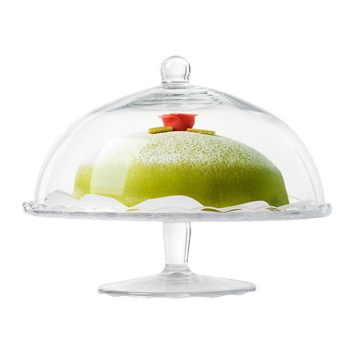 ARV BRÖLLOP Cake stand with lid IKEA The cake stand is a festive way to serve pastries, cheese or cakes.