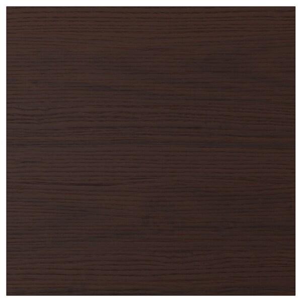 """ASKERSUND Drawer front, dark brown ash effect, 15x15 """""""