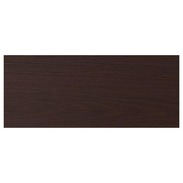"""ASKERSUND Drawer front, dark brown ash effect, 24x10 """""""
